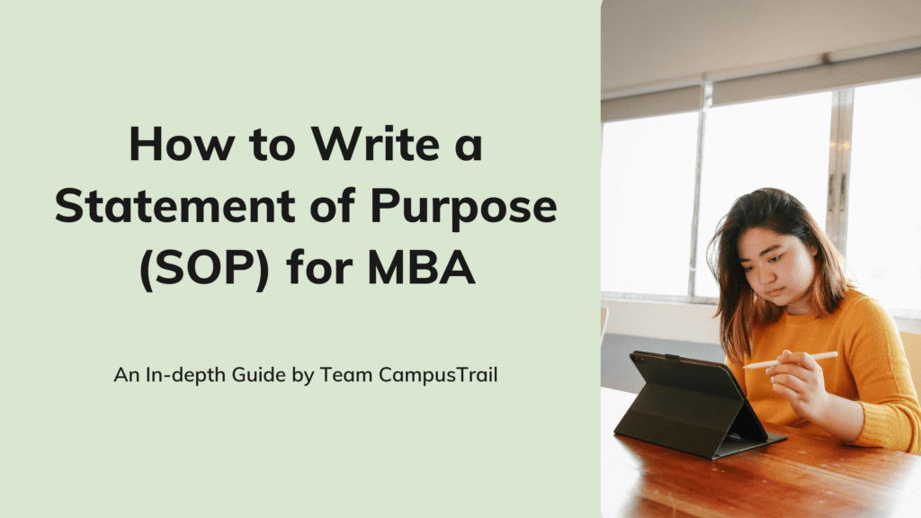 How to Write a Statement of Purpose (SOP) for MBA